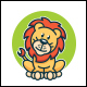 Cute Lion Logo Template