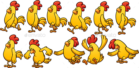 Cartoon Chicken - Animals Characters