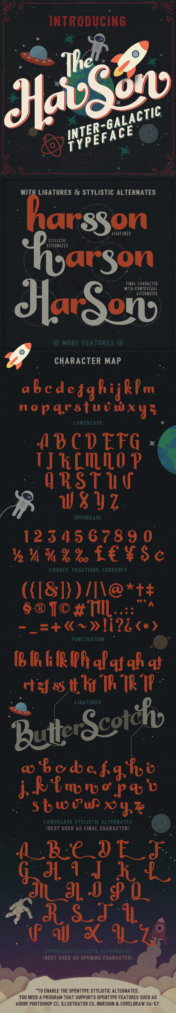 Harson: Inter-Galactic Typeface - Decorative Fonts