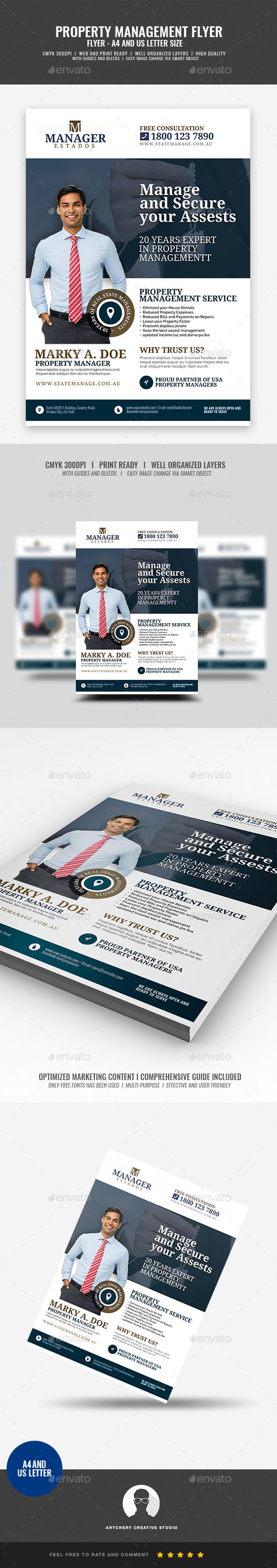 Property Management and Real Estate Flyer - Corporate Flyers