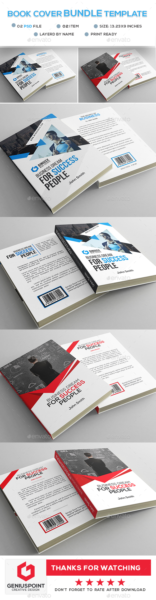 Book Cover Bundle Template - Miscellaneous Print Templates