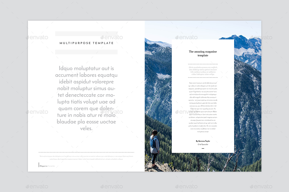 Indesign Magazine Template By Graphhost