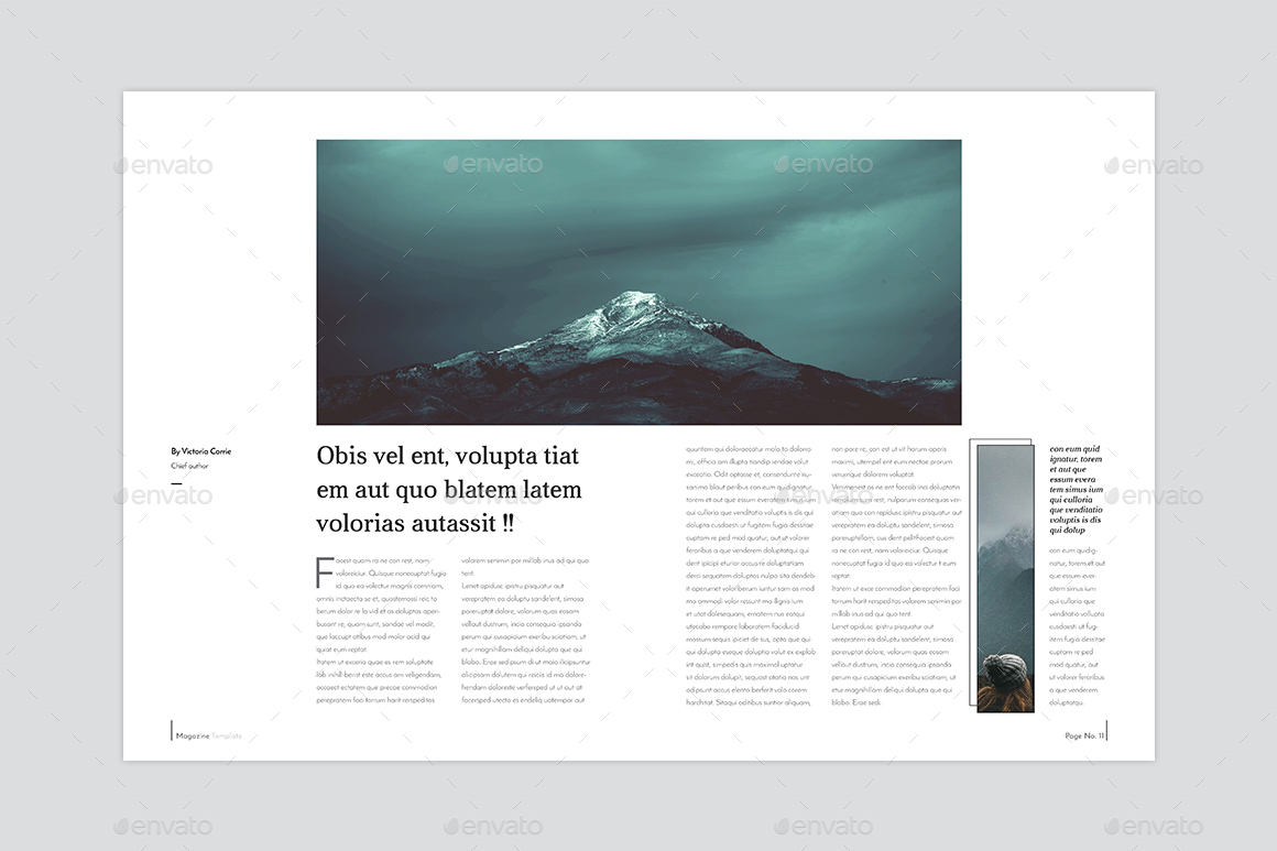 InDesign Magazine Template by graphhost | GraphicRiver