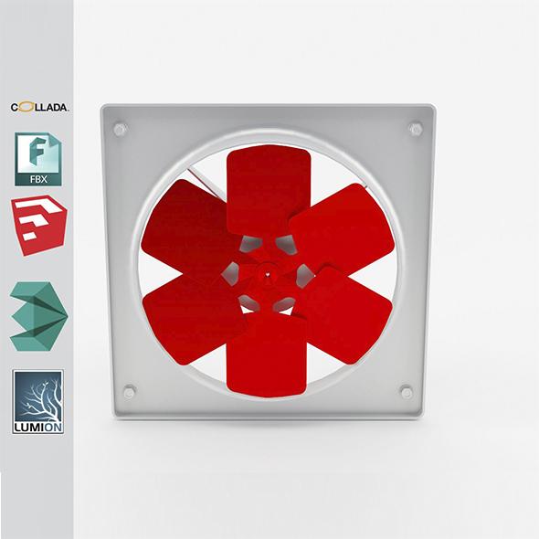 Industrial wall fan 1 - 3DOcean Item for Sale