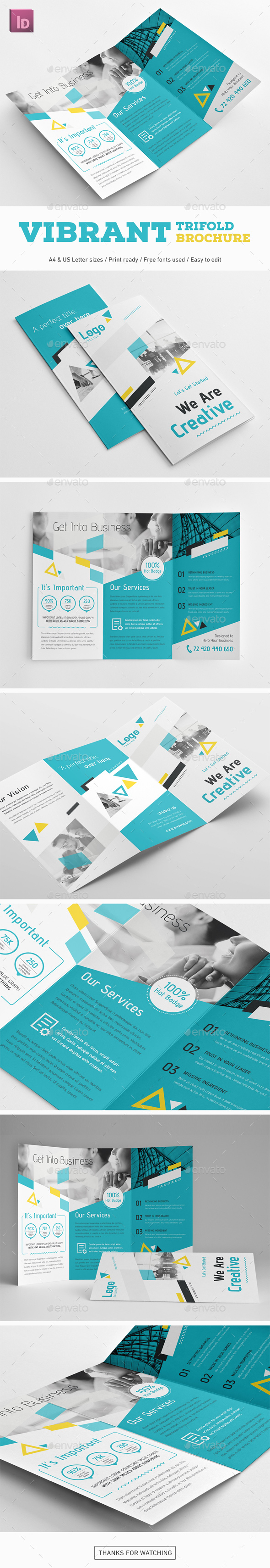 Vibrant Trifold Brochure - Corporate Brochures