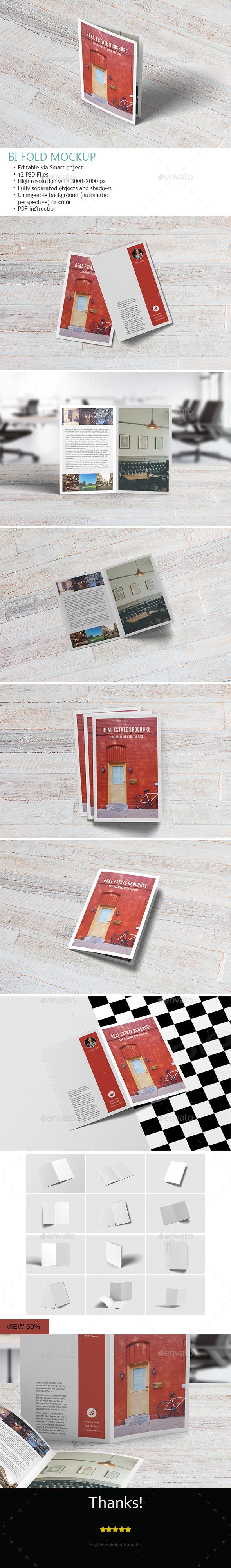 A4 Bifold Brochure Mockup - Brochures Print