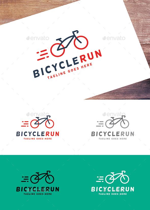 Bicycle Run - Sports Logo Templates