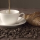 Hot Black Americano Coffee with Croissants Bakery - VideoHive Item for Sale