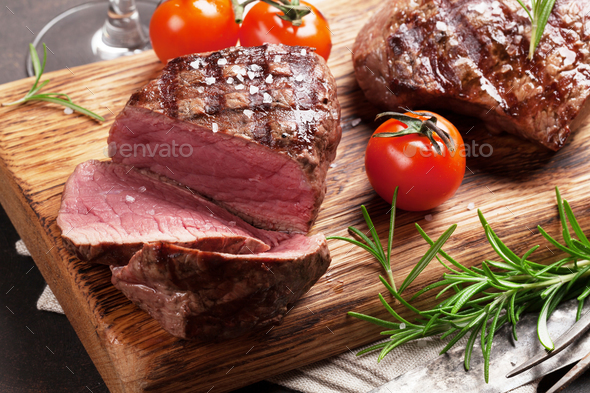 Grilled fillet steak - Stock Photo - Images