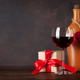 Valentines day greeting card with red wine - PhotoDune Item for Sale