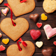 Valentines day greeting card with heart cookies - PhotoDune Item for Sale