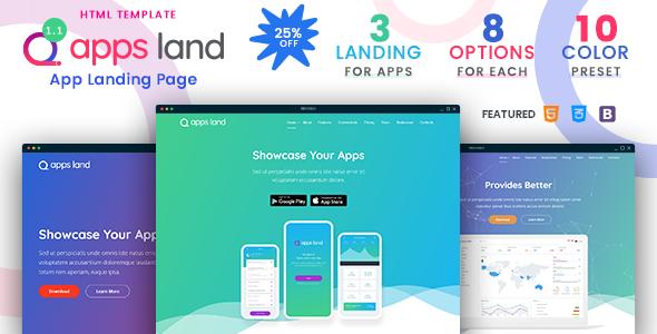 AppsLand - App Landing HTML Template
