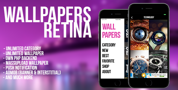 Wallpaper Retina (iOS) - CodeCanyon Item for Sale