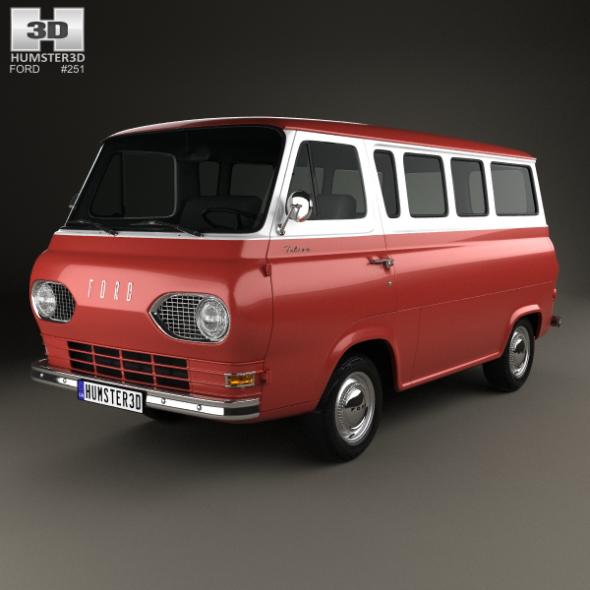 Ford E-Series Falcon Club Wagon 1963 - 3DOcean Item for Sale