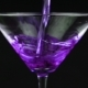 Pouring Purple Cocktail in Martini Glass on Black Background - VideoHive Item for Sale