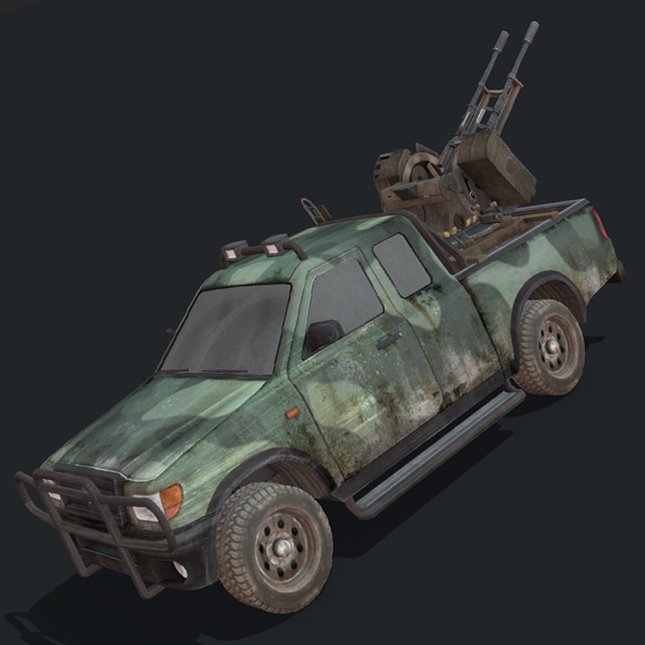 Toyota Hilux Artillery - 3DOcean Item for Sale