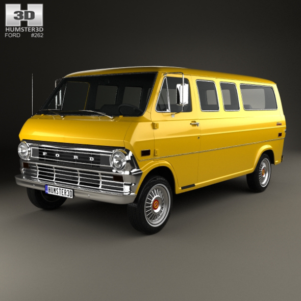 Ford E-Series Econoline Club Wagon 1971 - 3DOcean Item for Sale