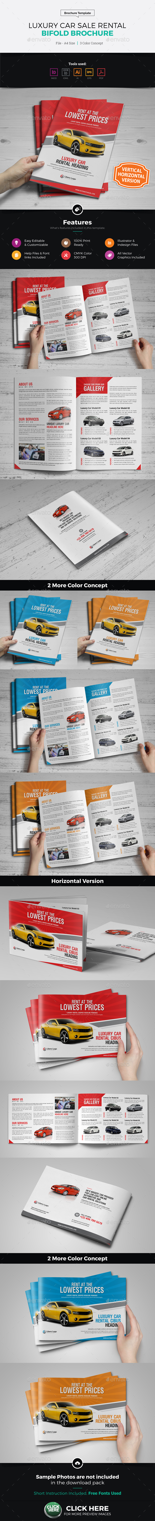 Luxury Car Sale Rental Brochure Design - Corporate Brochures
