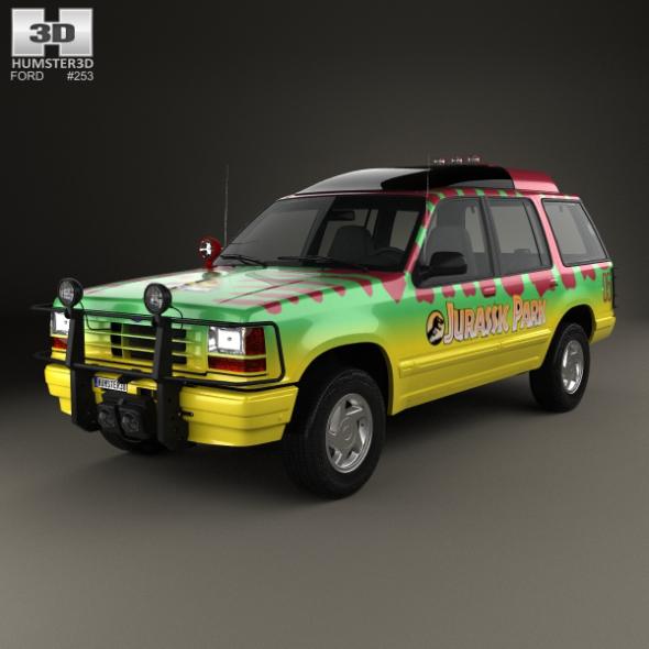 Ford Explorer Jurrasic Park 1993 - 3DOcean Item for Sale