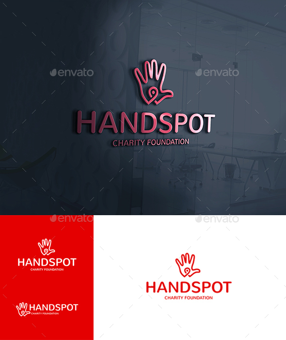 Hand Spot Point Locator Logo - Symbols Logo Templates