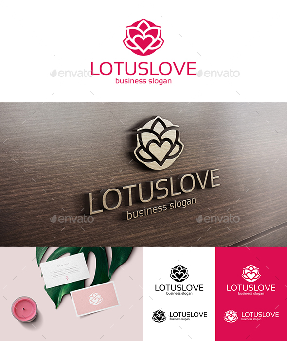 Lotus Love Logo Template - Nature Logo Templates
