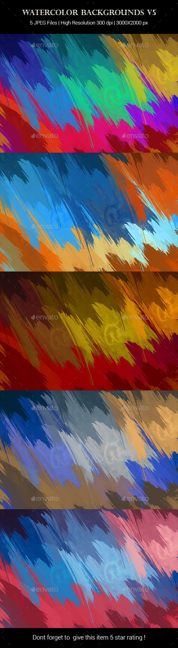 Watercolor Backgrounds v5 - Backgrounds Graphics