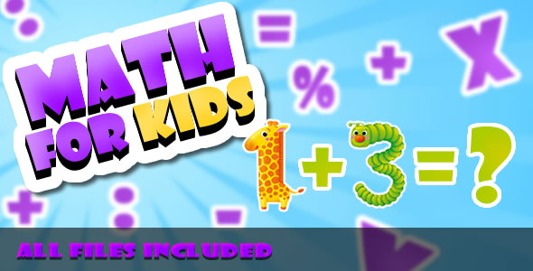 CodeCanyon Math for Kids CAPX & HTML Game 21278777