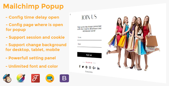 Mailchimp Popup - CodeCanyon Item for Sale