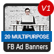 20 Facebook Ad Banners V1 - AR