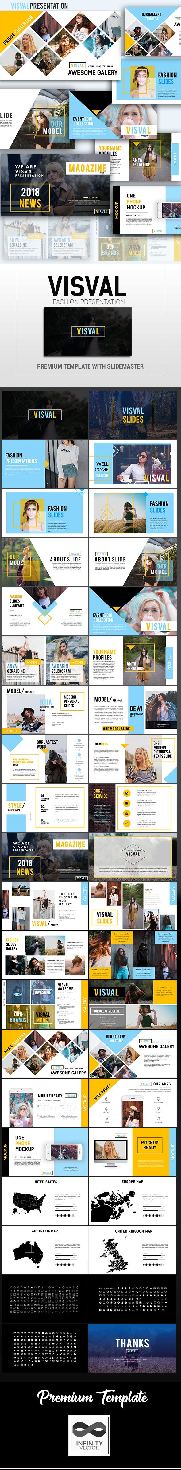 Visval Fashion Presentation Google Slide - Google Slides Presentation Templates
