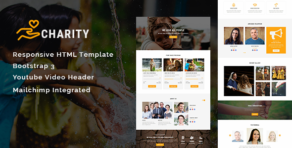 ThemeForest Charity Multipurpose Responsive HTML Landing Page 21186733