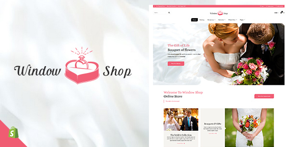 ThemeForest Window Shop Wedding Shopify Theme 21161927