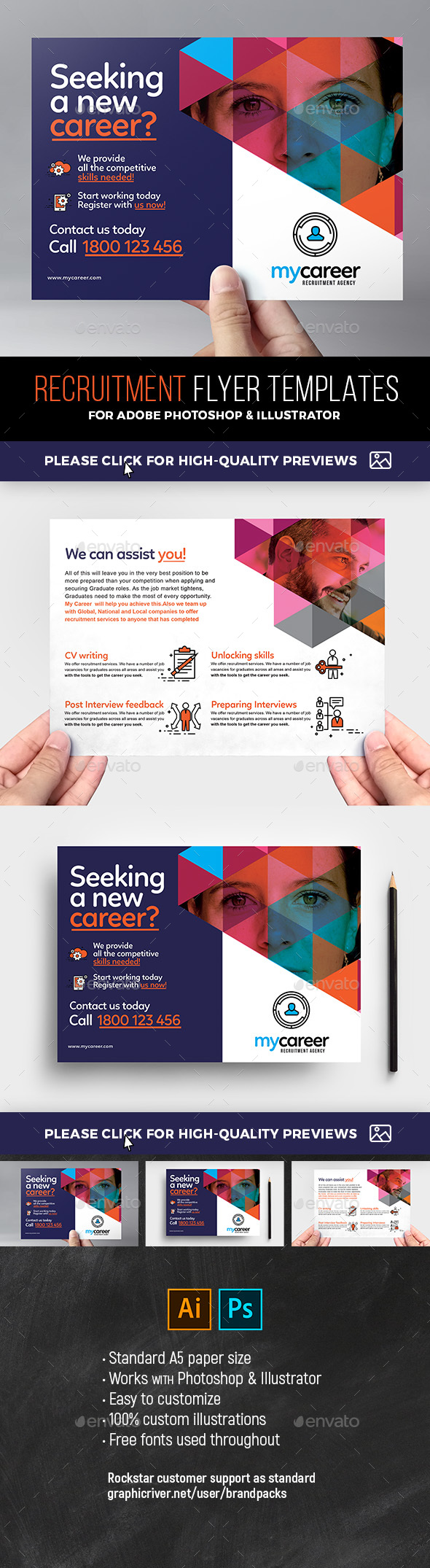 Recruitment Agency Flyer Templates - Corporate Flyers