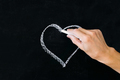 white chalk heart - PhotoDune Item for Sale
