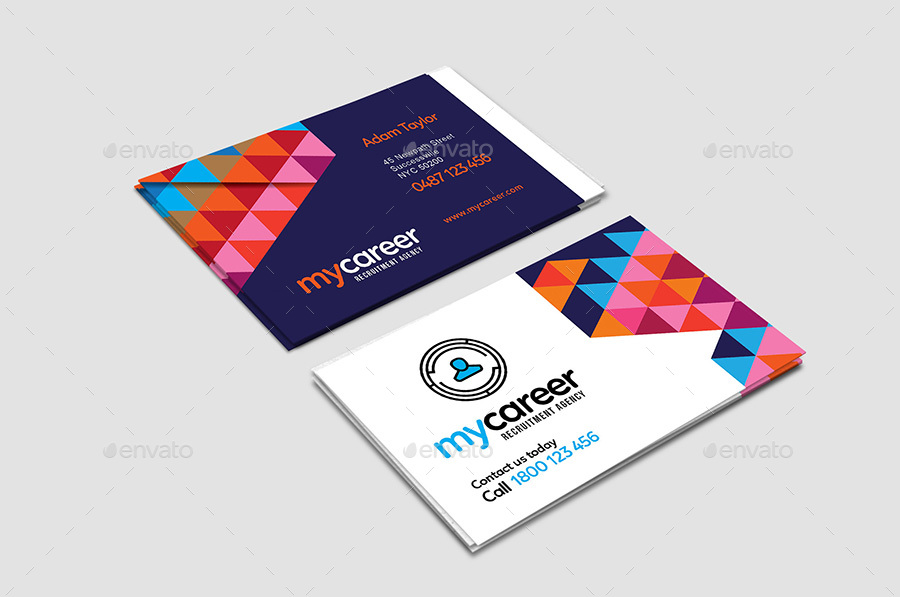 Recruitment Agency Business Card Template by BrandPacks | GraphicRiver