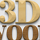3D Wood Creation Mockup - GraphicRiver Item for Sale