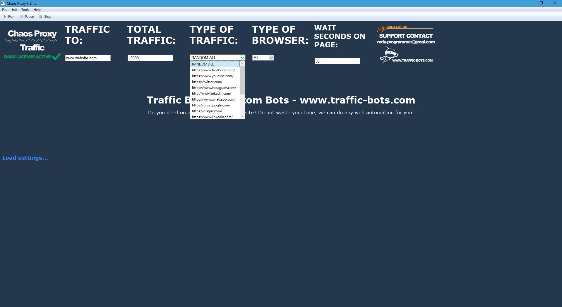 Chaos Proxy Traffic