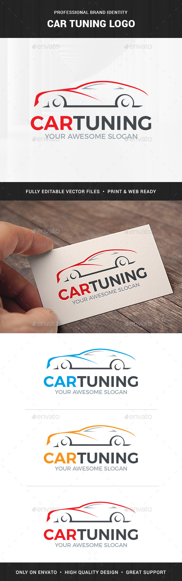 Car Tuning Logo Template - Objects Logo Templates