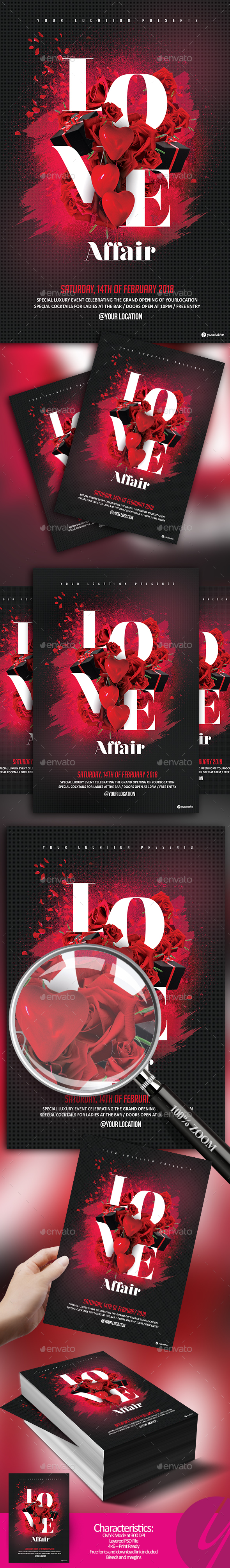 Love Affair Flyer - Clubs & Parties Events