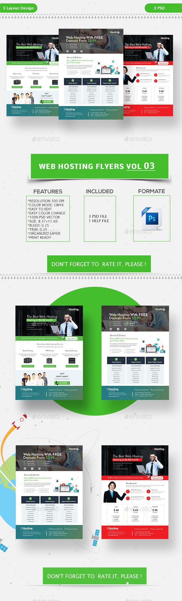Web Hosting Flyers Vol-03 - Flyers Print Templates