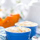 Cooking on kitchen table delicious mini casserole with cottage cheese and pumpkin for breakfast - PhotoDune Item for Sale