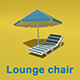 Beach chaise lounge chair - 3DOcean Item for Sale