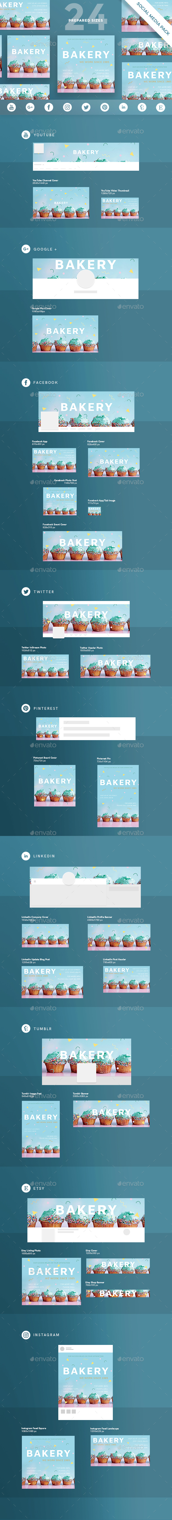 Bakery Social Media Pack - Miscellaneous Social Media