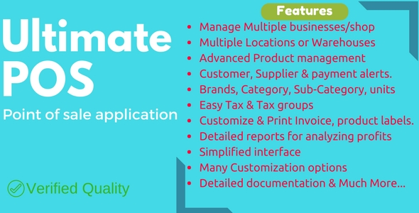 Ultimate POS - Stock Management & Point Of Sale application - CodeCanyon Item for Sale