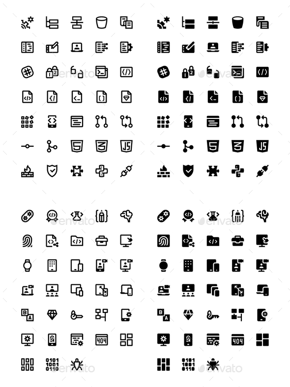 136 Web & Mobile Development Icons - Technology Icons