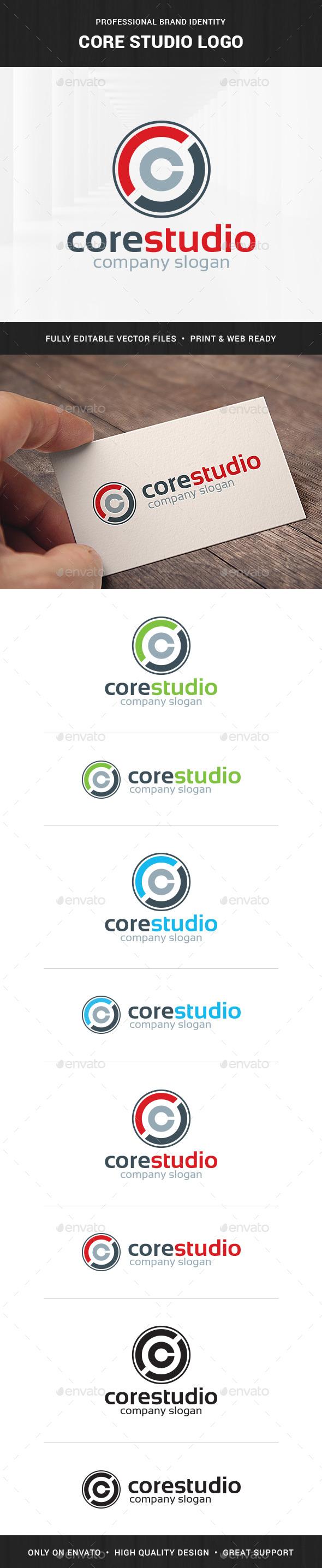Core Studio - Letter C Logo - Letters Logo Templates