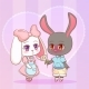 Anime Cartoon Puppy Bunny