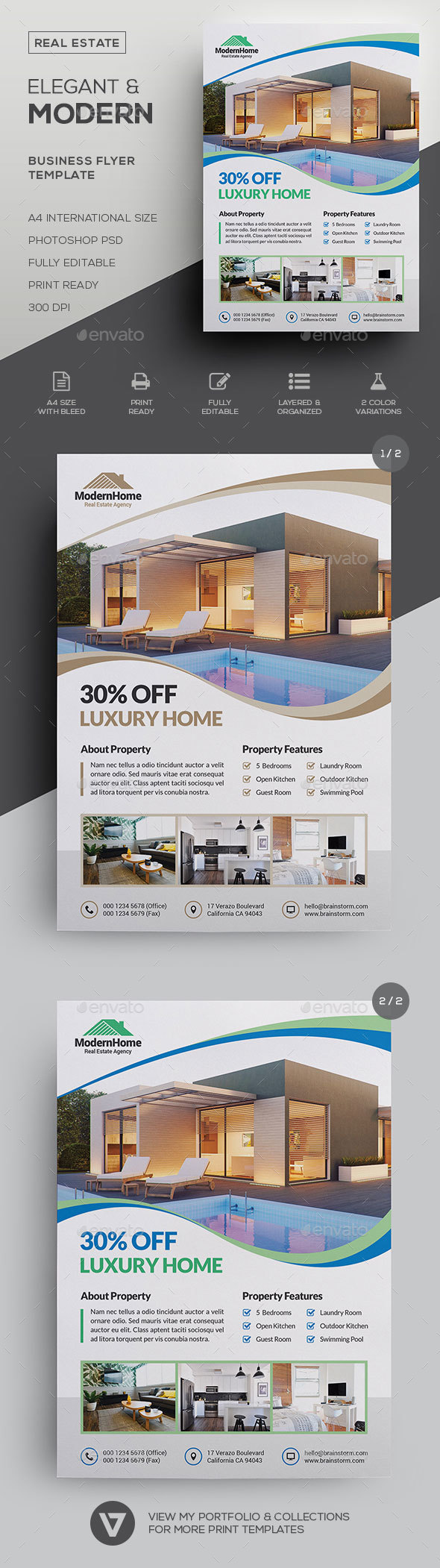 Real Estate Flyer Graphics, Designs & Templates