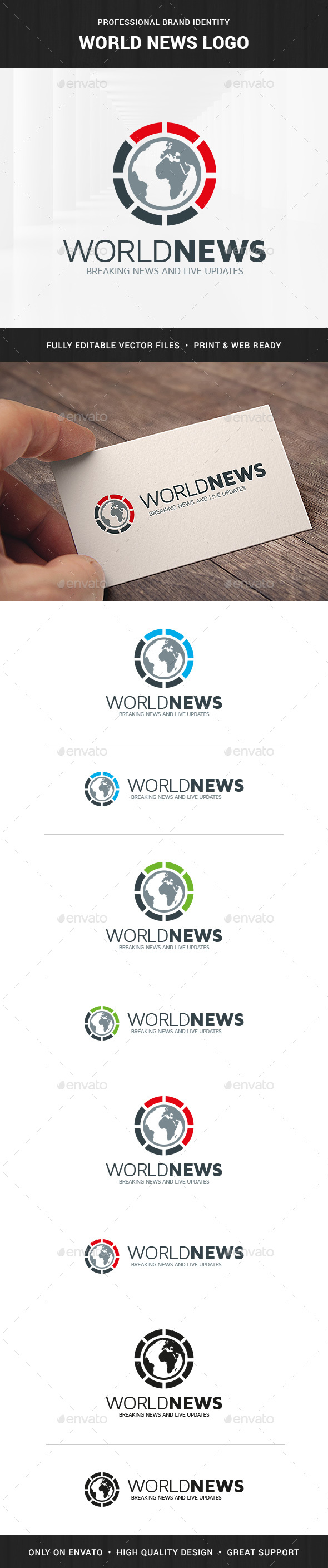 World News Logo Template - Symbols Logo Templates