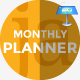 Monthly Planner Keynote Presentation Template